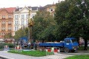 Terénní práce na IG průzkumu pro metro I.D v Praze